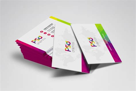 Graphic Design Card Templates Psd Free by Colorful Business Card Free Psd Graphics Psd Graphics