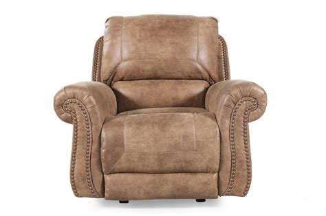 ashley recliners ashley larkinhurst rocker recliner mathis brothers furniture