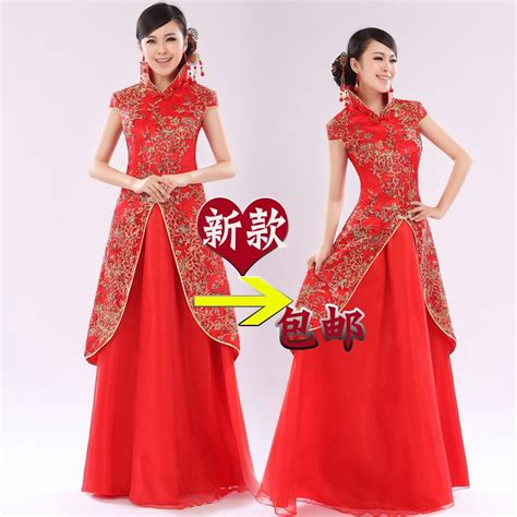 Dress Cheongsam Style bridal wear cheongsam style formal dress cheongsam
