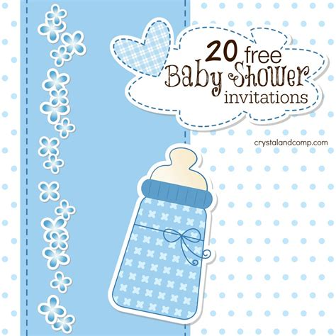 free baby shower invites templates printable baby shower invitations