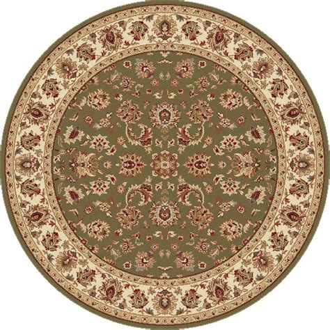 round accent rug tayse rugs elegance green 7 ft 10 in x 7 ft 10 in