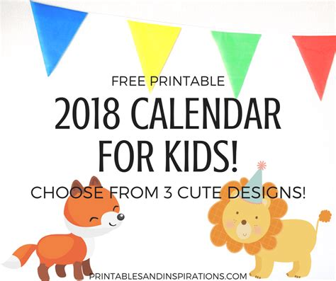 Free Printable Monthly Calendar For Kids
