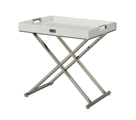 tray tables dreamfurniture com ax white tray table