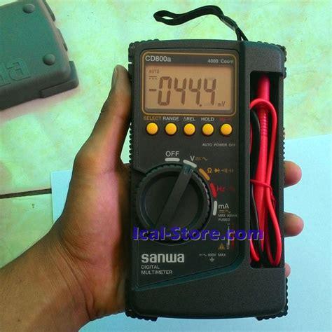 Multitester Sanwa Cd800a Alat Ukur Multi Meter Digital Terbaru Murah multitester multimeter digital sanwa cd800a ical store