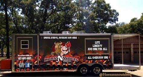Catering Kitchen Design Ideas horns n snouts bbq food truck amp caterers food truck