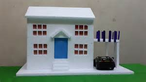 House Projects make thermocol bungalow house model school project for kids youtube
