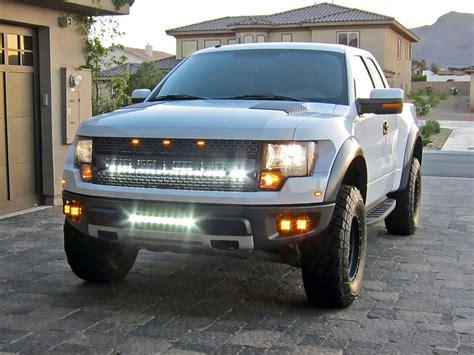 led light bar behind grill f150 2004 2014 ford f 150 raptor led light mounts brackets