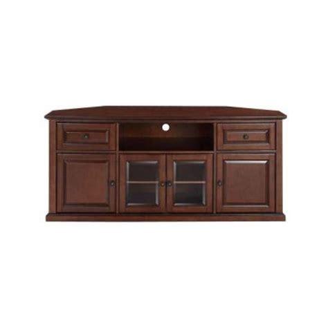 crosley 60 in corner tv stand in mahogany cf1000260 ma
