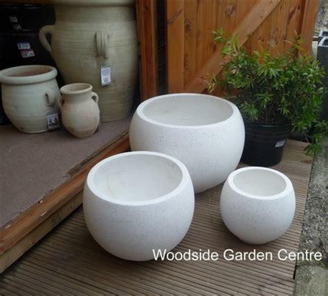 White Garden Pots Large White Terrazzo Pots Planters Woodside Garden