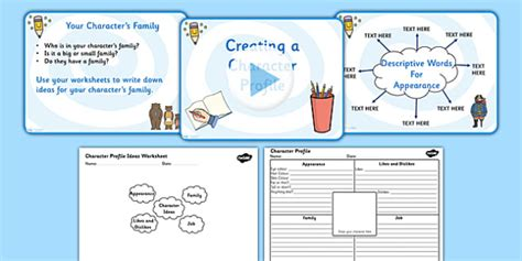 powerpoint tutorial ks2 writing and creating a character profile powerpoint and