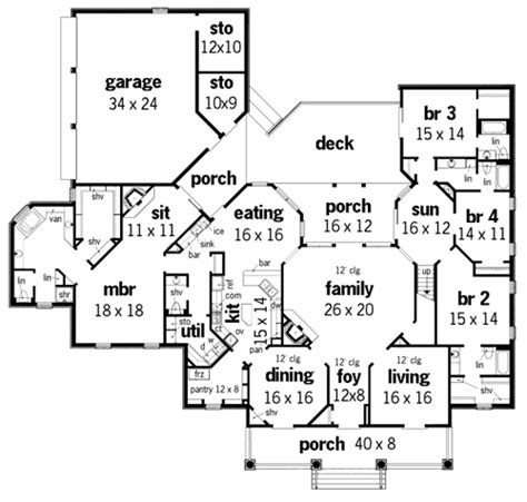 plantation house floor plans springhill plantation 4001 3608 4 bedrooms and 4 baths
