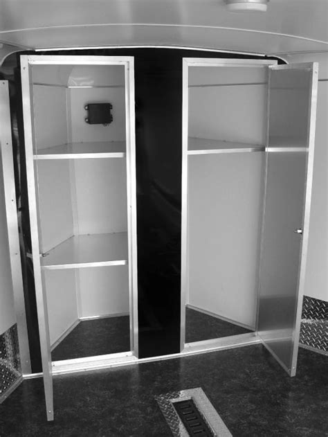 appealing pictures of v nose enclosed trailer cabinets