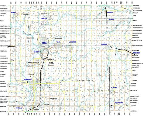 map of allen maps of iola kansas and allen county