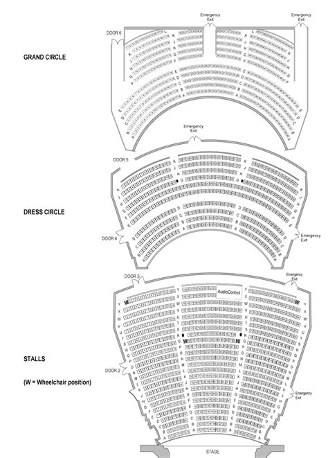 Royal Festival Hall Floor Plan seating plans her majesty s theatre