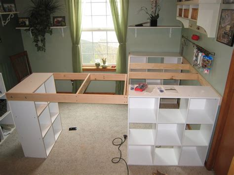 How To Build An L Shaped Desk Do It Yourself White Craft Desk