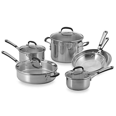 bed bath and beyond calphalon buy simply calphalon 174 stainless steel 10 piece cookware
