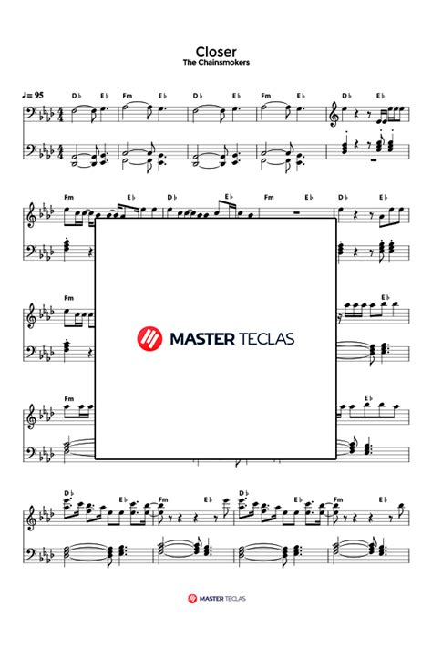 The Chainsmokers – Closer (Partitura) – Master Teclas