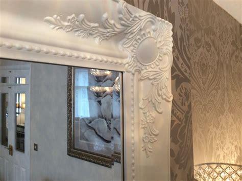 white shabby chic wall mirror matt white large shabby chic wall mirror large