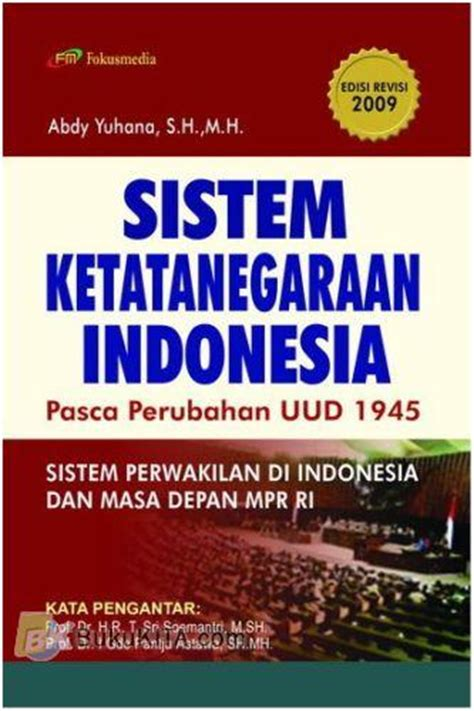Sistem Sosial Indonesia Rp 40 000 bukukita sistem ketatanegaraan indonesia pasca perubahan uud 1945 edivi revisi 2009