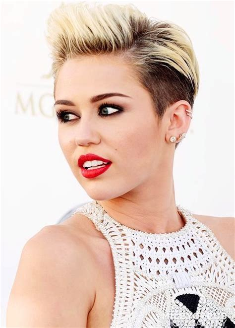 celebrity hairstyles that fit a raoundish head celebrity hairstyles miley cyrus shaved pompadour