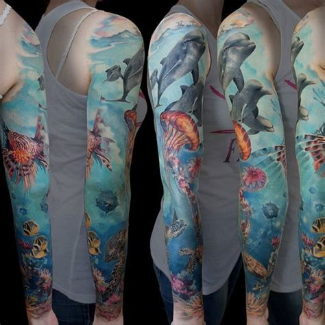 ocean sleeve tattoo 17 best images about science tattoos on
