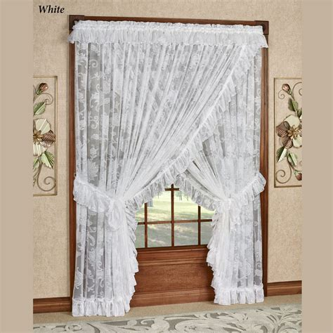 sheer priscilla curtains maison semi sheer lace wide priscilla curtains