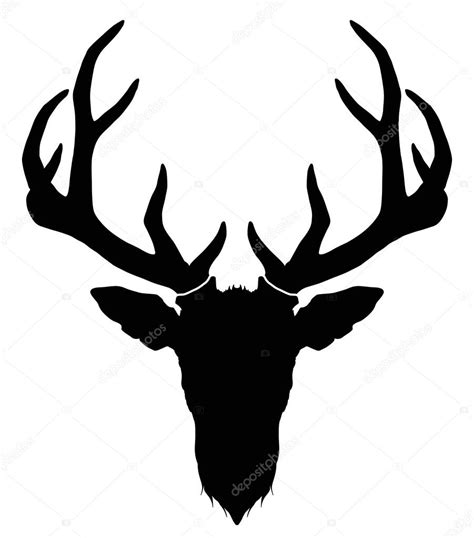 deer head with horns silhouette stock vector 169 diana