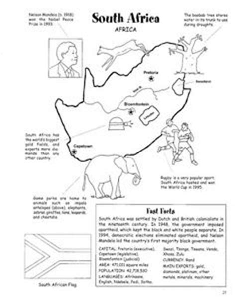 Grade 4 History Worksheets South Africa by South Africa Countries Free Lesson Plans For