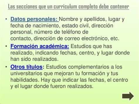 Modelo Curriculum Niñera Presentaci 243 N De Curriculum