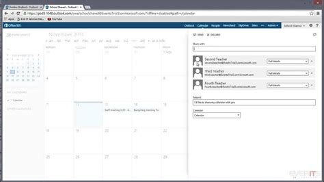 Shared Calendar Editing Shared Calendar Permissions In Office 365