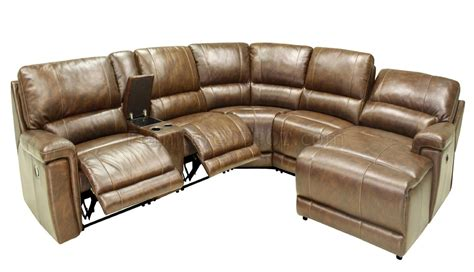 Hazelnut Full Leather 6pc Modern Motion Reclining Motion Reclining Sofa