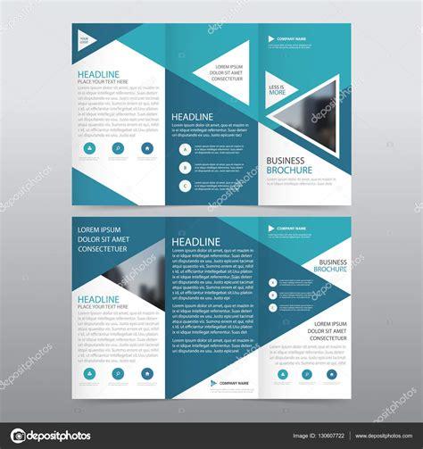 Design Layout Vorlagen Blaues Dreieck Gesch 228 Ft Trifold Brosch 252 Re Brosch 252 Re Flyer Bericht Vorlage Vektor Minimal Flache