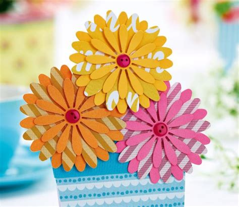 Layered Flower Card Template by Five Layered Flower Cards Free Card Downloads