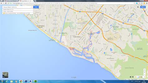 map newport california newport california map california map