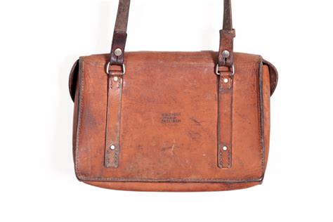Swiss Army Leather 1950 s swiss army leather shoulder bag