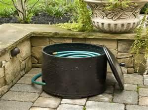 garden hose container storage garden hose box home design