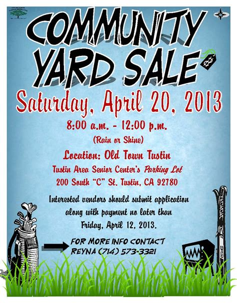Tustin Residents Action Committee Committed To Keeping Our City Council Honest Yard Sale Flyer Template