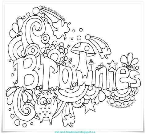doodle free guide owl toadstool doodle brownies