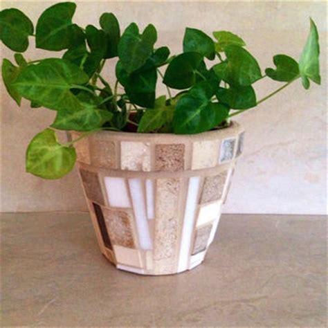 Large Indoor Planter Pot Handmade Mosaic Pot With Painted - best outdoor pots planters products on wanelo