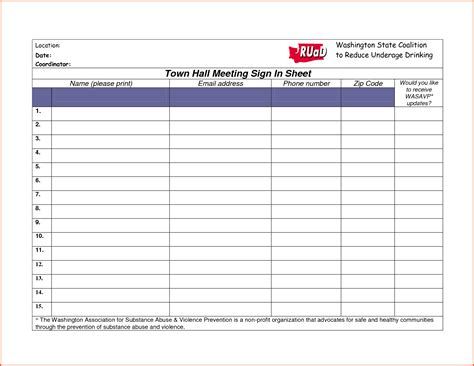 event sign in sheet template safety meeting sign in sheet vertola