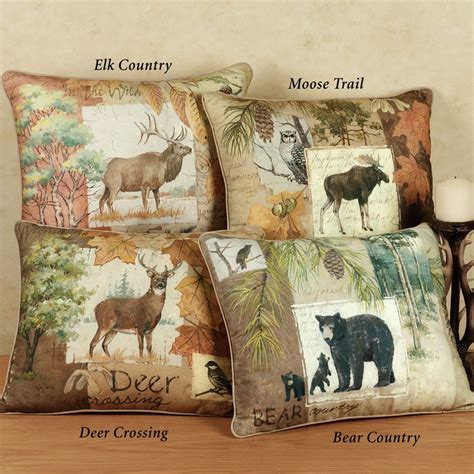 Wildlife Pillows by Image Detail For The Rustic Wildlife Decorative Pillows