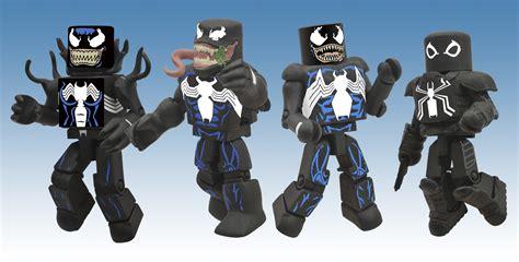 Venom Marvel Figure Mini Mates previewsworld marvel minimates venom through the ages box set c 1 1 3