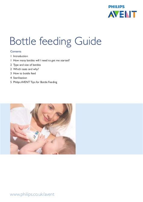 How Not To Bottle Feed by Bottle Feeding Guide Avent