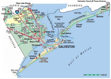 texas map galveston galveston county for residents