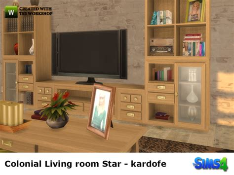 colonial living room furniture colonial livingroom by kardofe at tsr 187 sims 4 updates