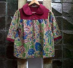 Baju Atasan Wanita Kemeja Blouse Hem Wiwih Blue model baju batik kantor danar hadi model baju batik and kebaya