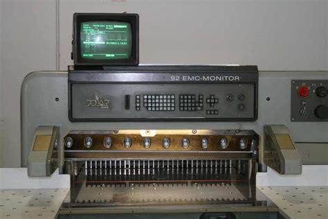 Original Heidelberg Baut Safety Polar polar 92 emc monitor machinery europe