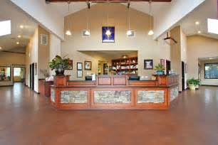 Rustic Reception Desk North Fork Veterinary Clinic Veterinary Clinic Auburn