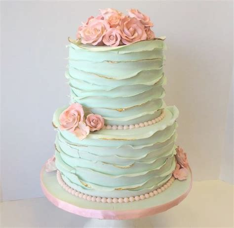 More Whimsical Cakes To Impress by Ruffles On Your Wedding Cake Can Be Whimsical Or