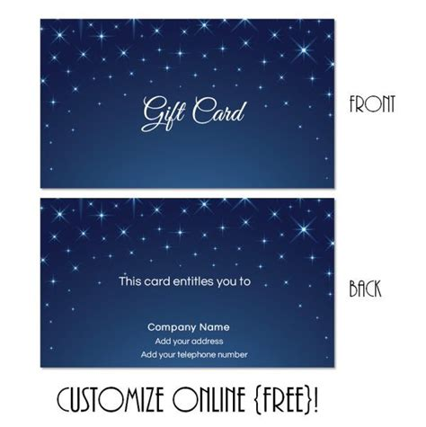Gift Card Text Template by Free Printable Gift Card Templates That Can Be Customized